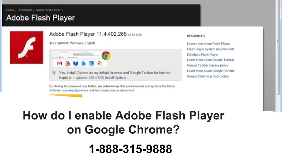 How Do I Enable My Adobe Flash Player on Google Chrome 1-877-201-3827