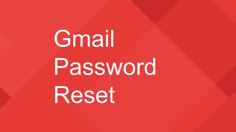 resetting a gmail password