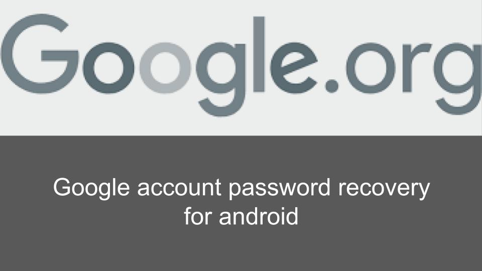 How to do Google Account Recovery for Android | Google