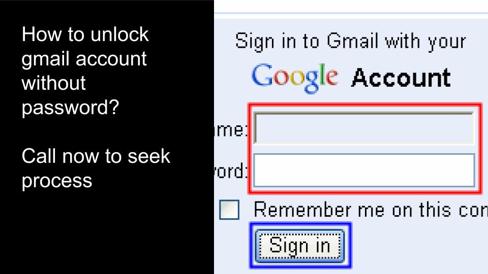 gmail password recovery call